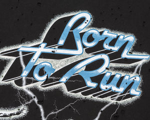 Moth Eaten T-Shirt - Born to Run - Logo