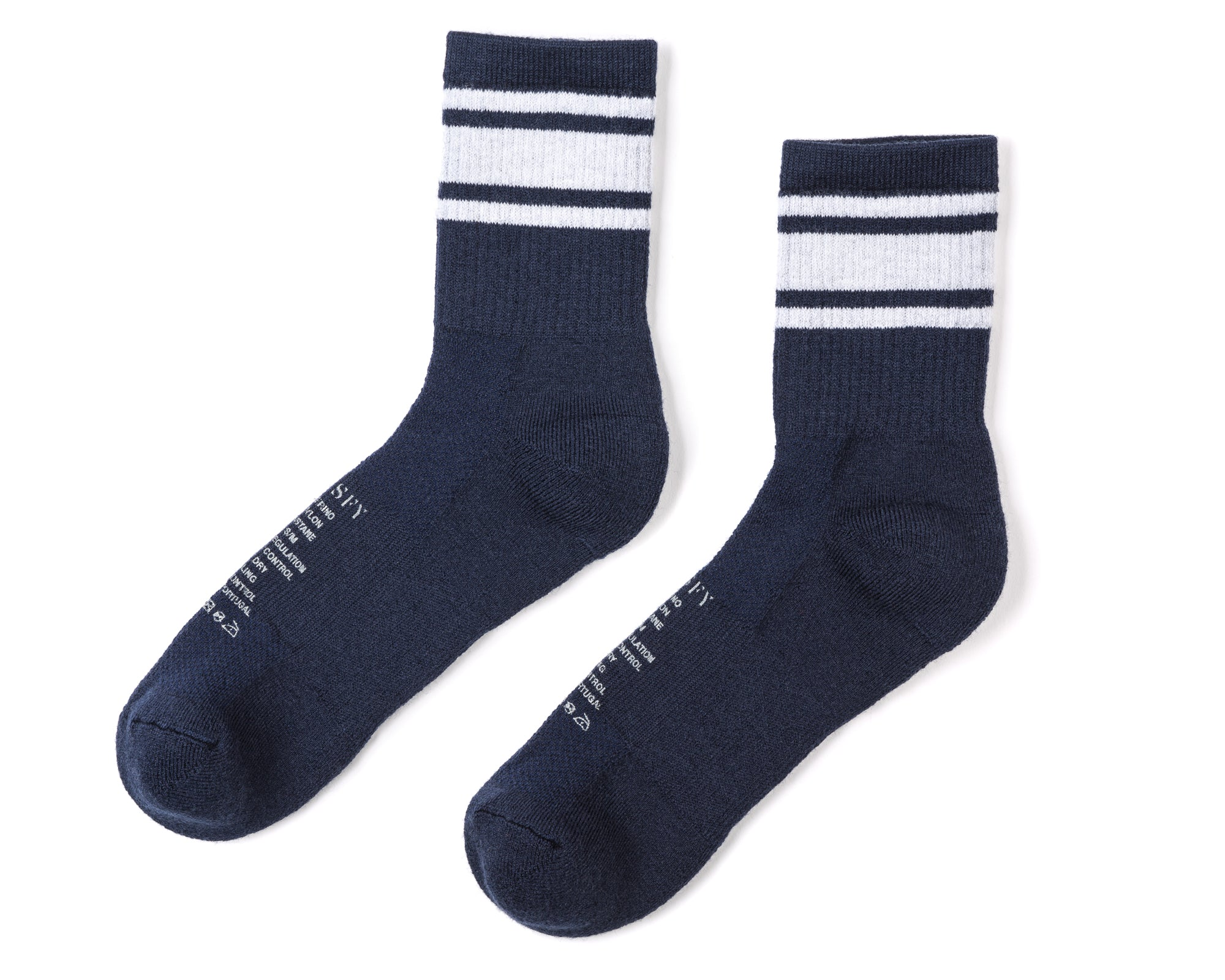 Merino Tube Socks - Navy - Left