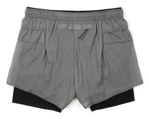 "Long Distance 3"" Shorts - STEEL - Back"