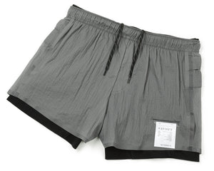 "Long Distance 3"" Shorts - STEEL - Frontside"
