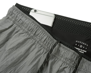 "Long Distance 3"" Shorts - STEEL - Phone-pocket"