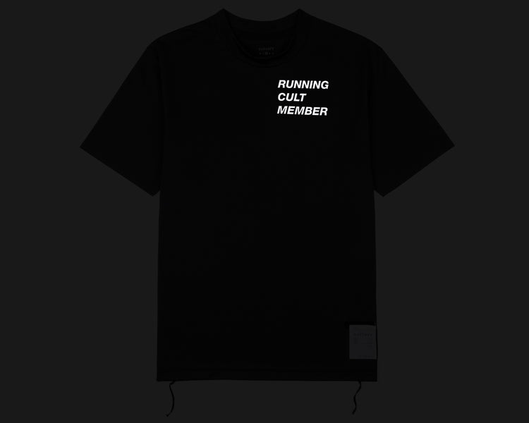 Light T-Shirt - Running Cult Member - Black - Front Reflective