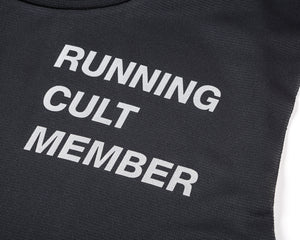 Light Muscle Tee - Running Cult Member - Black - Logo