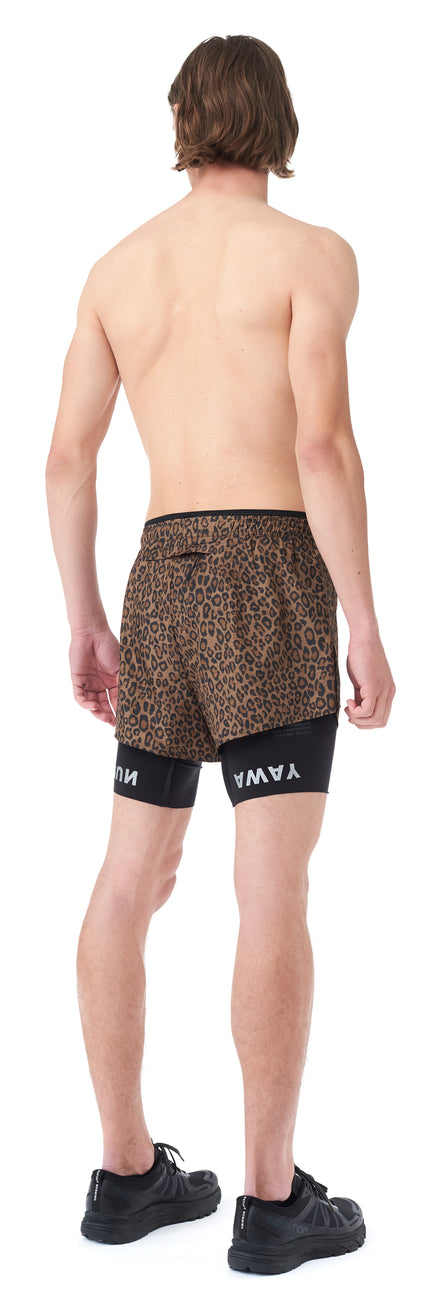 "Short Distance 8"" Shorts - LEOPARD - Silhouette-Back-side"