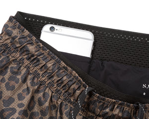 "Short Distance 8"" Shorts - LEOPARD - Phone-pocket"