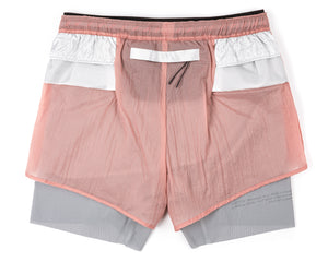 "Trail Long Distance 3"" Shorts - CORAL PINK - Back"
