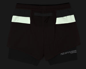 "Trail Long Distance 3"" Shorts - CORAL PINK - Reflective"