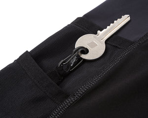 "Justice™ 10"" Cargo Shorts - BLACK - Key-hook"