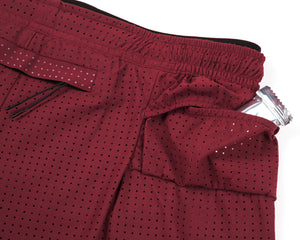 "Long Distance 2.5"" Shorts - BURGUNDY - Enery-bar-pocket"