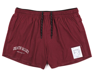 "Long Distance 2.5"" Shorts - BURGUNDY - Front"