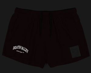 "Long Distance 2.5"" Shorts - BURGUNDY - Front REFLECTIVE"