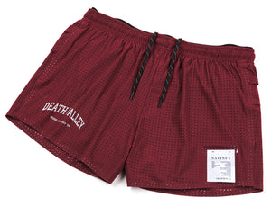 "Long Distance 2.5"" Shorts - BURGUNDY - Frontside"