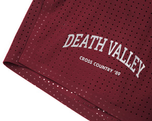 "Long Distance 2.5"" Shorts - BURGUNDY - Logo"