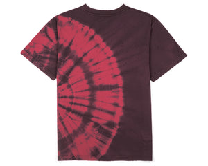 Moth Eaten T-Shirt - BURGUNDY TIE-DYE - Back