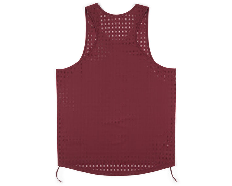 Race Singlet - BURGUNDY - Back