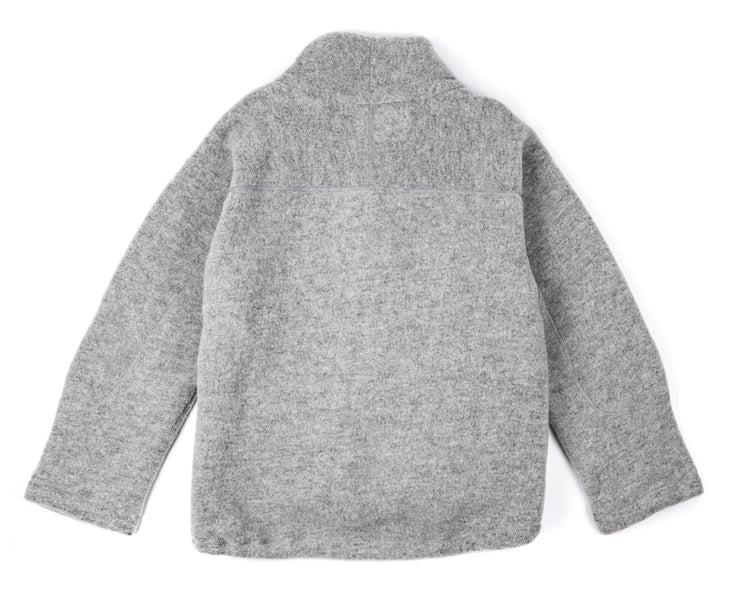 Air-Wool Jacket - Heather Grey - Back