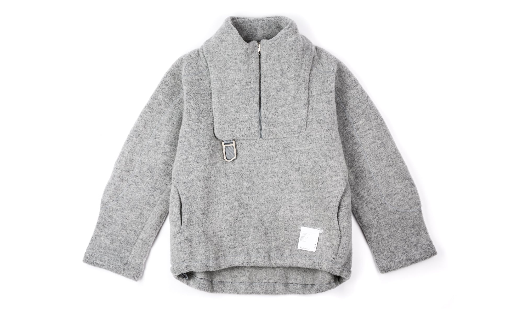 Air-Wool Jacket - Heather Grey - Front