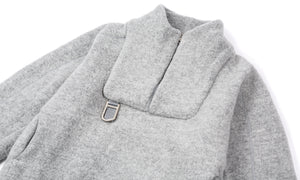 Air-Wool Jacket - Heather Grey - Front Side