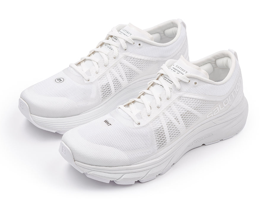 Satisfy / Salomon SONIC RA MAX - Clear White - Front Side