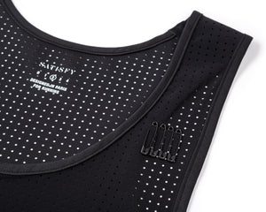 Race Singlet - BLACK - Detail