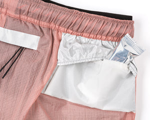 "Trail Long Distance 3"" Shorts - CORAL PINK - Enregy-bar pocket"
