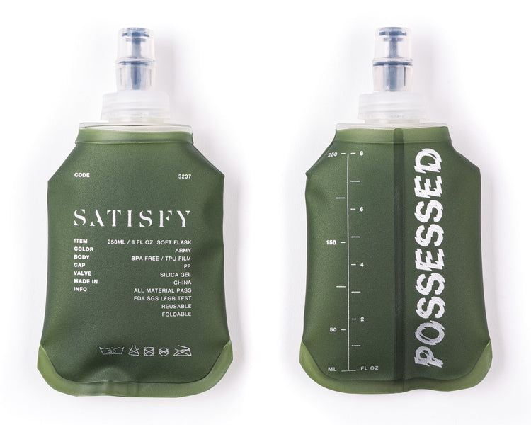 WATER FLASK 250ML X 2PCS - Army Green - Front