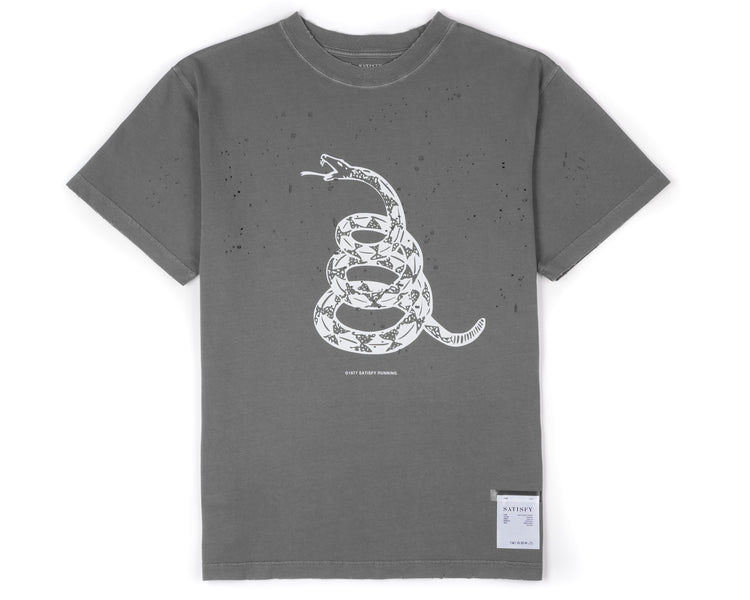 Moth Eaten T-Shirt - SHADOW - Front
