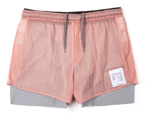 "Trail Long Distance 3"" Shorts - CORAL PINK - Front"