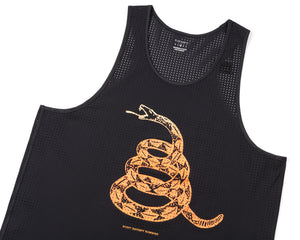 Race Singlet - BLACK - Frontside