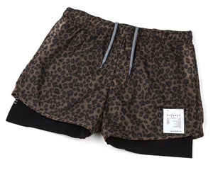 "Trail Long Distance 3"" Shorts - LEOPARD - Frontside"