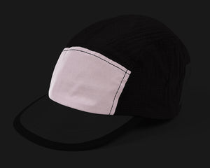 Trail Running Cap - DUSTY PINK - Frontside reflective