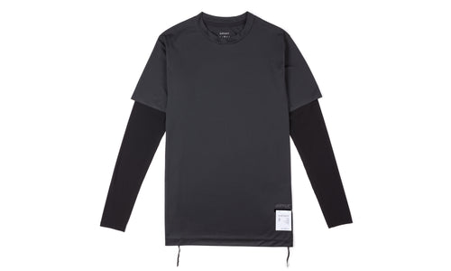 Justice Long Tee - Black - Front
