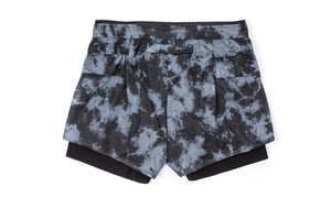 "Long Distance 3"" Shorts - Tie-Dye - Back"