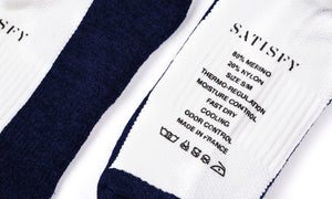 Merino Low Socks - Petrol - Label