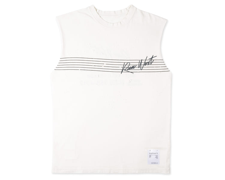 Run West Moth Eaten Muscle Tee - Front