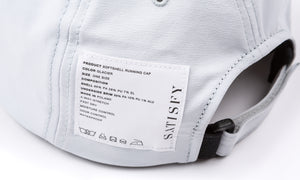 Softshell Running Cap - Glacier - Label
