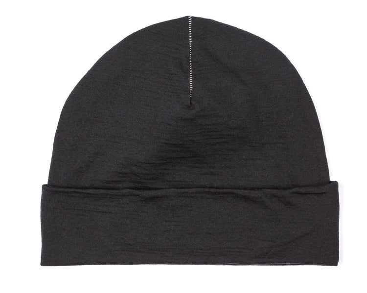 Cloud Merino 160 Running Hat - Black - Back