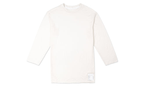 Cloud Merino 100 3/4 Sleeve Tee - Off White - Front
