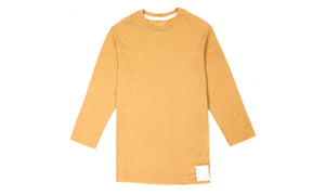 Cloud Merino 100 3/4 Sleeve Tee - Sunflower - Front