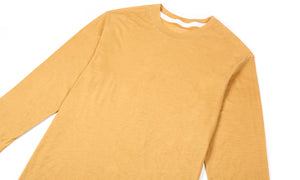 Cloud Merino 100 3/4 Sleeve Tee - Sunflower - Front Side