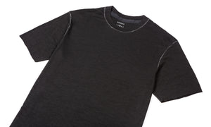 Cloud Merino 100 Tee Shirt - Black - Front Side