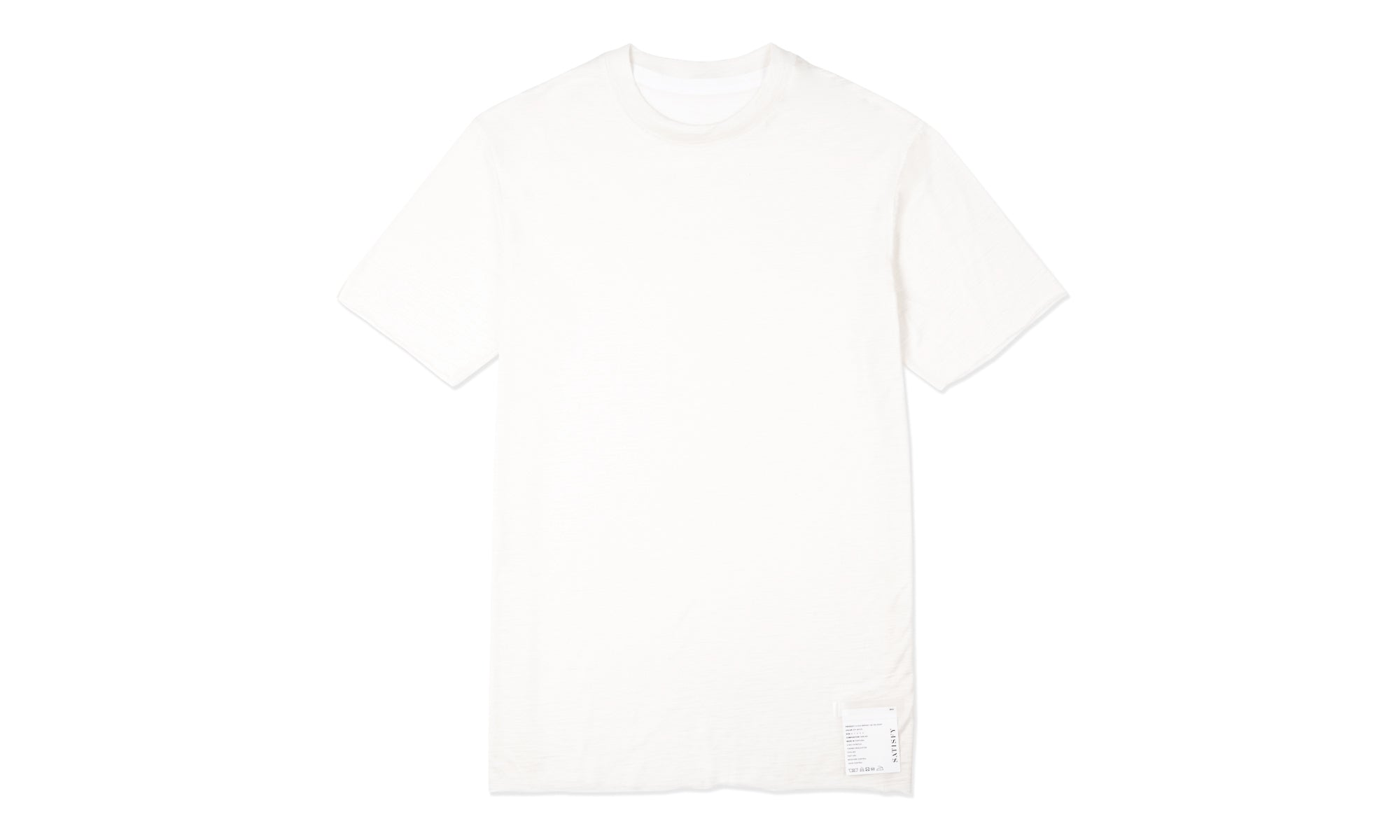 Cloud Merino 100 Tee Shirt - Off White - Front