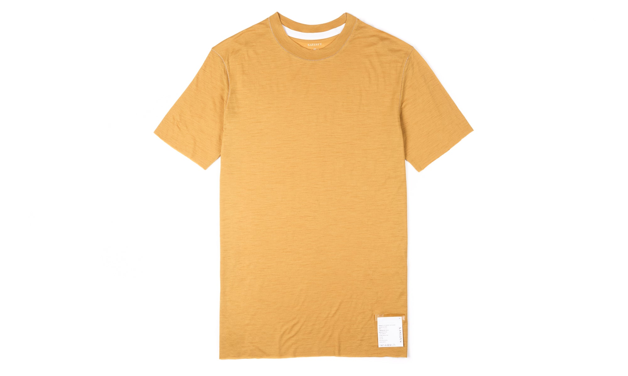 Cloud Merino 100 Tee Shirt - Sunflower - Front