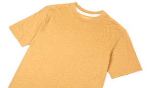 Cloud Merino 100 Tee Shirt - Sunflower - Front Side