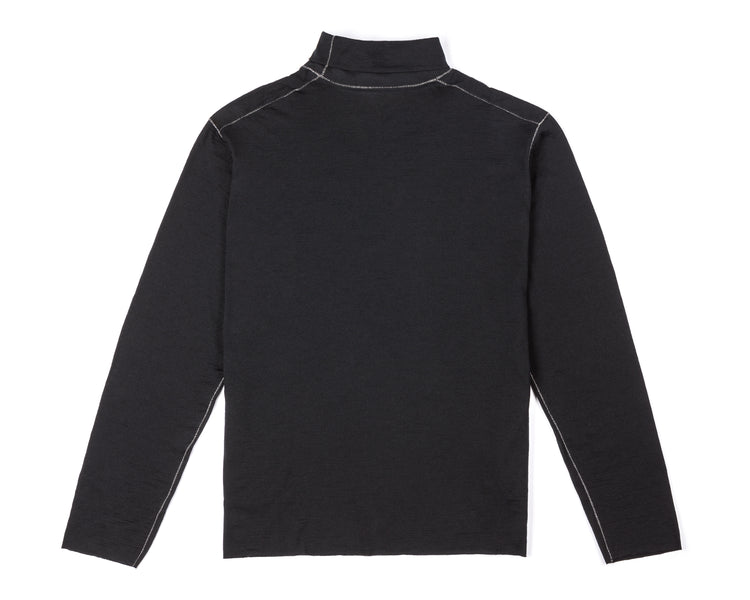 Cloud Merino 160 Rolled Neck - Black - Back