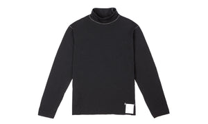 Cloud Merino 160 Rolled Neck - Black - Front