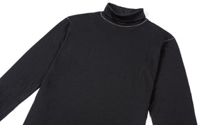Cloud Merino 160 Rolled Neck - Black - Front Side