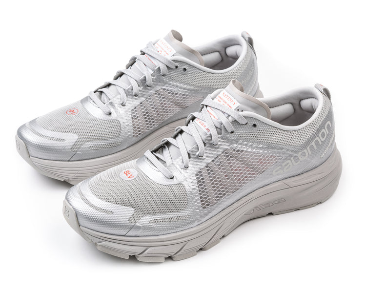 Salomon / Satisfy SONIC RA MAX - Silver - Front Side