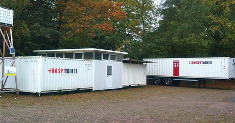 Mobile containerized medical solution in the Netherlands. Photo: Hospitainer