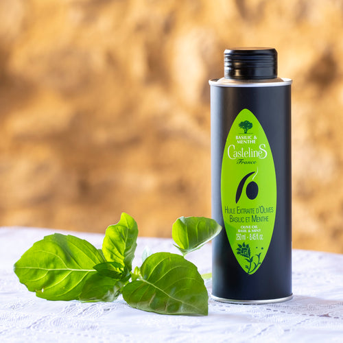 Huile d'olive basilic menthe